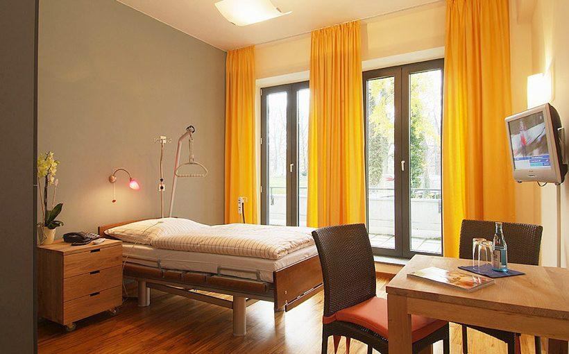 Patientenzimmer in der Klinik am Forsterpark